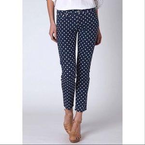 AG Stevie Polka Dot Ankle Jeans Size 29